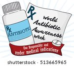 poster with medical... | Shutterstock .eps vector #513665965