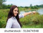 cute little asian girl are fun   Shutterstock . vector #513674548