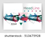 unusual abstract corporate... | Shutterstock . vector #513675928