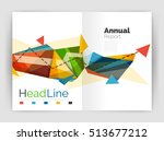 triangles and lines  annual... | Shutterstock . vector #513677212