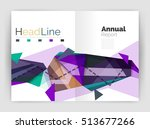 unusual abstract corporate... | Shutterstock . vector #513677266