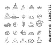 icons with cakes | Shutterstock .eps vector #513687982