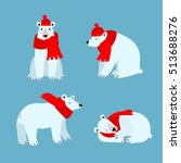 Cartoon Cute Polar Bear Animal...