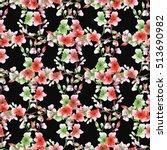 seamless pattern small green... | Shutterstock . vector #513690982