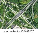 road traffic in city at... | Shutterstock . vector #513692296