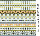 ethnic seamless pattern with... | Shutterstock .eps vector #513697162