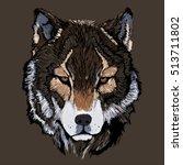 detailed wolf    Shutterstock .eps vector #513711802