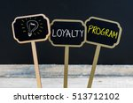 concept message loyalty program ... | Shutterstock . vector #513712102