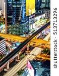 express way in bangkok ... | Shutterstock . vector #513713296