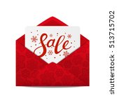 christmas sale message for your ... | Shutterstock .eps vector #513715702