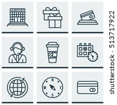 set of transportation icons on... | Shutterstock .eps vector #513717922
