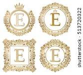 Golden Letter E Vintage...