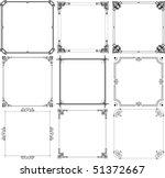 decorative frames  set 3  | Shutterstock .eps vector #51372667