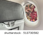 image of plane window and... | Shutterstock . vector #513730582