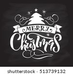 hand sketched christmas... | Shutterstock .eps vector #513739132
