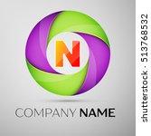 letter n vector logo symbol in...   Shutterstock .eps vector #513768532