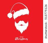 santa claus hat and beard | Shutterstock .eps vector #513775126