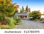 custom built luxury house with...   Shutterstock . vector #513780595