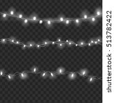 set of overlapping  glowing... | Shutterstock . vector #513782422