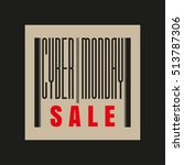 cyber monday red and black... | Shutterstock .eps vector #513787306