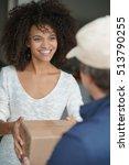 Mixed Race Woman Receiving...