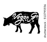 "vector poster ""go vegan"" with... 