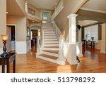 sunny hallway interior with... | Shutterstock . vector #513798292