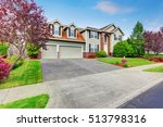 luxury house exterior with red... | Shutterstock . vector #513798316