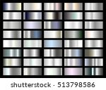 vector set of silver  white... | Shutterstock .eps vector #513798586
