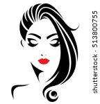 illustration of women long hair ... | Shutterstock .eps vector #513800755