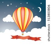red and yellow balloon in sky... | Shutterstock .eps vector #513803806