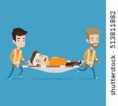 team of emergency doctors... | Shutterstock .eps vector #513811882