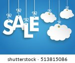hanging letters sale and 3... | Shutterstock .eps vector #513815086
