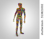 3d rendering  digital person... | Shutterstock . vector #513821032