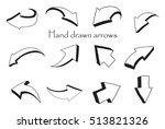 hand drawn arrow icon set... | Shutterstock .eps vector #513821326