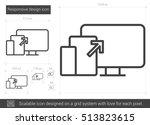 responsive design vector line... | Shutterstock .eps vector #513823615