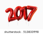 red helium 2017 balloons with... | Shutterstock . vector #513833998