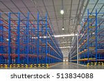 warehouse industrial shelving... | Shutterstock . vector #513834088