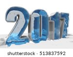 creative abstract new year 2017 ... | Shutterstock . vector #513837592