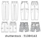 vector pants for man.fashion... | Shutterstock .eps vector #51384163