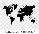 transparent detailed world map... | Shutterstock .eps vector #513844072