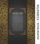 elegant ornate background  thai ... | Shutterstock .eps vector #513846706