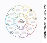 thin line pie chart infographic ...   Shutterstock .eps vector #513847492
