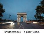 triumphal arch. paris. france.... | Shutterstock . vector #513849856