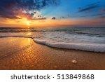 seascape during sundown....   Shutterstock . vector #513849868