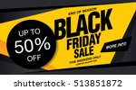 sale poster of black friday | Shutterstock .eps vector #513851872