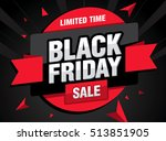 sale poster of black friday | Shutterstock .eps vector #513851905