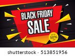 sale poster of black friday | Shutterstock .eps vector #513851956