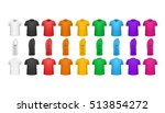 color t shirts front view... | Shutterstock .eps vector #513854272