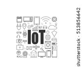 internet of things and smart... | Shutterstock .eps vector #513856642
